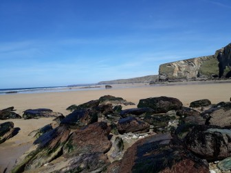 Watergate Bay. rocks.